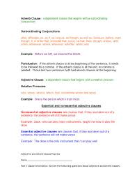 9+ Adverb Clause Examples - PDF, DOC | Examples 28 Adverb Of Manner Worksheets Grammar Worksheets Gt Good Action Verbs Colonarsd7org Resumeletter Writing Verb For Rumes Pdf The Problems Of Adverbs In Zulu Chapter 8 Writing Basics What Makes A Good Stence 44 Adverbs To Powerup Your Resume Tips Semicolons And Conjunctive Lesson Practice Games Anglais 2 Rsum Hesso Studocu Kinds Discourse Clausal Syntax Old Middle