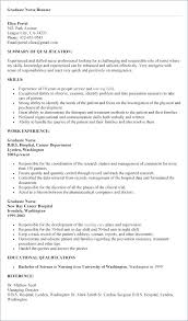 Writing A Nursing Resume Examples Resumes For New Graduates Professional Example Grad