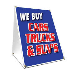 Amazon.com: A-frame Sidewalk We Buy Cars Trucks & Suv's Sign With ...