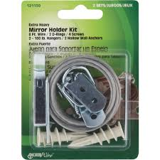 Dresser Mirror Mounting Hardware by Heavy Duty Mirror And Picture Hanger Kit Walmart Com