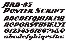 Script Casual Surplus Modern Poster