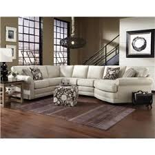 England Brantley 5 Seat Sectional Sofa with Cuddler Pilgrim