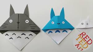 Images Origami Bookmark Easy Totoro Paper Crafts