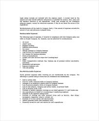Travel Policy Template 7 Free Word PDF Document
