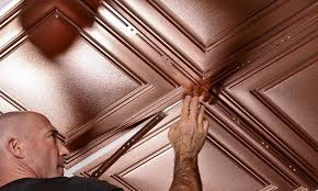 Ceilume Drop Ceiling Tiles by Cambridge Faux Copper By Ceilume