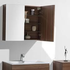 spiegelschrank bad 80 cm montiert nussbaum siena