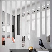 spiegel streifen acryl 3d wand aufkleber wohnzimmer