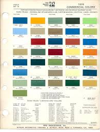 100 Ford Truck Colors 1969 Bronco Color Code