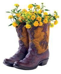 New Rustic Cowboy Boot Planter Flower Pot Western Garden Yard Patio Decor Gift