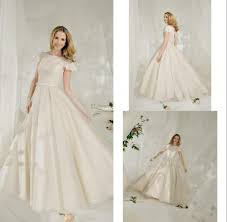 ruffle sleeves elegant gowns for bride petite high neck princess