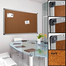 profi pinnwand für büro schule küche etc memoboard in vielen größen moderner aluminiumrahmen oberfläche wählbar kork 60x45 cm