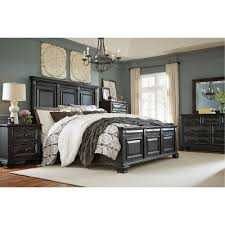 Black Traditional 6 Piece King Bedroom Set Passages