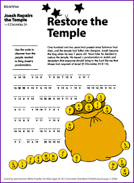 Holiday Coloring Pages Josiah Page Joash Temple Colouring