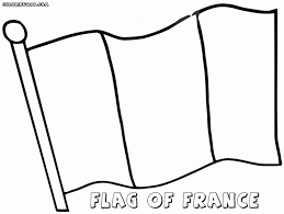 French Flag Coloring Page Free France Pages Intended For Inside
