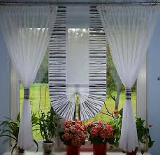 moderne gardinen wohnzimmer fensterdekoration küche weiß
