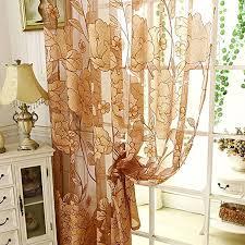 diossad transparent gardinen braun vorhang gardine fenster gardine mit blatt muster für wohnzimmer schlafzimmer blume fenster voilevorhang tüll