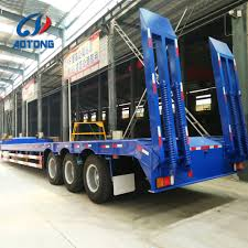 China Best Sale Type 50-100 Tons 3-6 Axles Low Bed Semi Truck ...