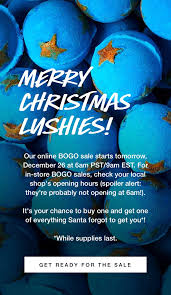 LUSH CANADA 2018 BOXING DAY SALE: BOGO; Buy One, Get One ... 25 Off Lush Mala Beads Coupons Promo Discount Codes Chewy Jelly Hawaiian Mix By Dope Magazine Fresh Handmade Cosmetics 2019 All You Need To Know 2018 Lush Beauty Advent Calendar Available Now Full Take 20 Off All Bedding At Lushdercom With Coupon Code Canada Free Calvin Klein Gift Card Where Can I Buy A Flex Belt Lucky In Love Womens Daze Long Sleeve Tennis Tshirt Richy K Chandler On Twitter The Tempo Holiday Sale Official Travelocity Coupons Promo Codes Discounts