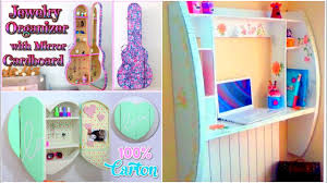DIY CRAFTS FOR ROOM DECOR 3 CARDBOARD FURNITURES Room Decorating Ideas For Teenagers