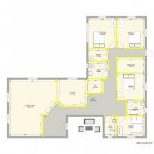 plan de maison plain pied 4 chambres charmant plan maison plain pied 3 chambres 1 bureau 2 maison