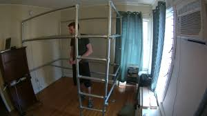 Putting To her a Custom Queen Loft Bed with Studio Underneath