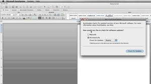 How to Update fice for Mac 2011