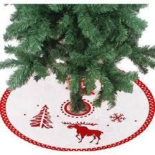China 2017 Hot Sale Christmas Tree Skirts Green Red Circle Star