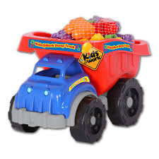 100 Kids Dump Truck Amloid At Work 25 Piece Of Blocks