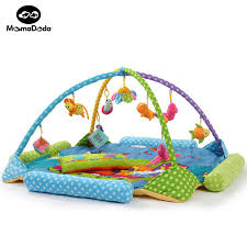 Zoo Kids Rug Baby Play Mat With Rack And Rattels Soft Educational