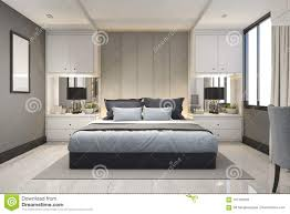 100 Modern Luxury Design 3d Rendering Blue Bedroom With Marble Decor Stock