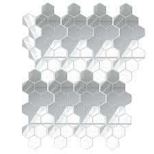 100x 3d spiegel fliesen mosaik wand aufkleber selbst klebe schlafzimmer kunst hexagon spiegel acryl diy wand abziehbilder abnehmbare wand nachbildung