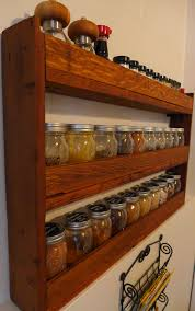 diy spice rack for pint mason jars made from reclaimed wood