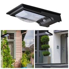 excelvan outdoor solar powered motion activated led security wall