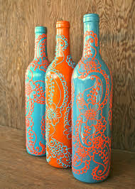 Decorative Wine Bottles With Lights by Painted Wine Bottles Diy Beautifulswitch D I Y Pinterest