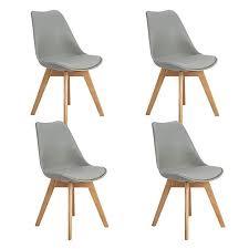 eggree 4er set esszimmerstühle mit massivholz buche bein
