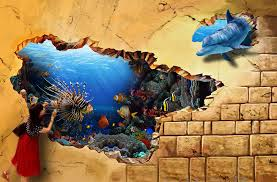 Enchanting Amazing 3D Wall Paintings Photos