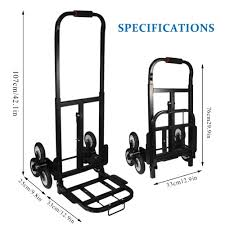 Stair Climber Hand Truck Barrow Hand Truck Bracket Roll Cart Tools Trolley  SOLID RUBBER TIRES-440LBS