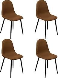 nimara 4er set esszimmerstühle mit leder bezug stuhl mit lederlook stühle fürr die esszimmer und wohnzimmer in retro design esszimmerstühle