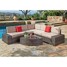 Amazon Prime Patio Chair Cushions by Amazon Com Ravello Outdoor Patio Furniture 4 Piece Wooden