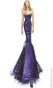 Purple Gowns Fashion Sketches Sketching