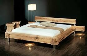 massivholzbett balken bett rustikales designerbett größe 160x200cm