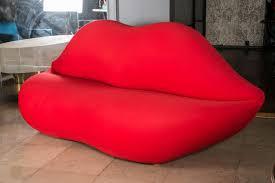 Salvador Dali Mae Wests Lips Sofa by Famous Design Pop Sofa