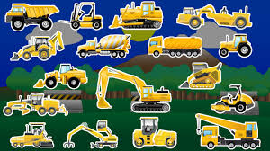 Learning Construction Vehicles - Trucks And Diggers - Children's ...