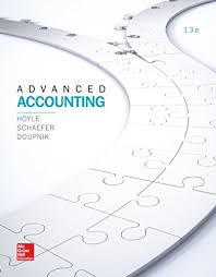 Test Bank For Advanced Accounting 13th Hoyle 9781259444951 Solutiontestbank