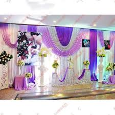 Fabric For Curtains Cheap by 3 6 M Ice Silk White Color Wedding Backdrops Curtains With Purple