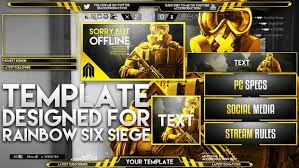 but siege social live overlay template pack rainbow s