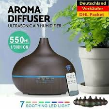 details zu led ultraschall luftbefeuchter 500ml aroma diffuser aromatherapie duftle rgb
