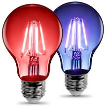 a19 clear glass and blue led bulbs feit electric