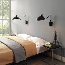 mantis one arm wall sconce l serge mouille style black or