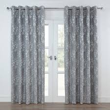 Ebay Curtains With Pelmets Ready Made by Julian Charles Blossom Silver Grey Floral Lined Eyelet Curtains